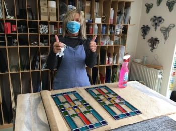 glas-in-lood Fourty5 cursus